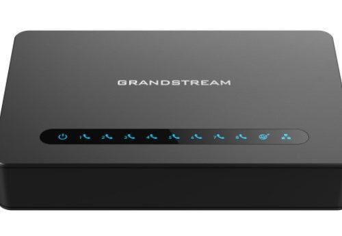 Gateway potente de 8 portas FXS da Grandstream com roteador NAT Gigabit HT818_Palmatec